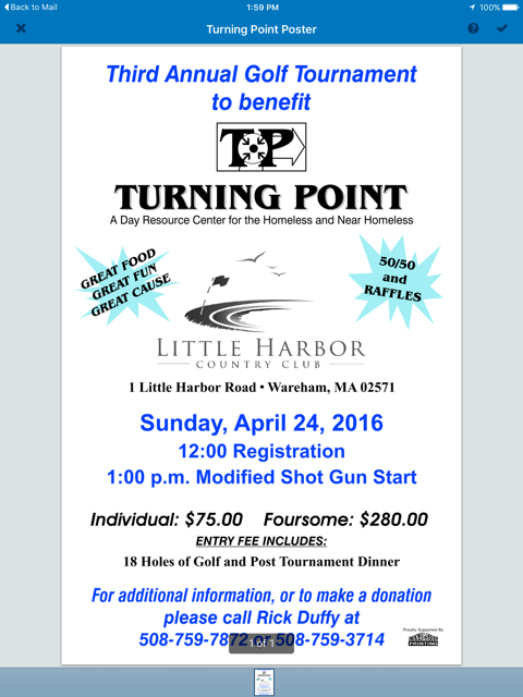 2016 Golf Tournament to benefit Turning Point