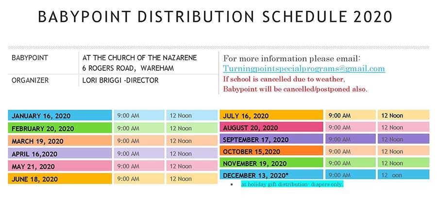 Baby Point 2020 Calendar